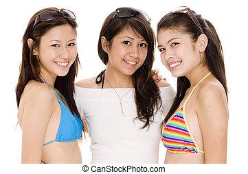 Beach Babes 12 - Three cute asian women in summer clothes