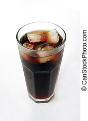 Drink in a glass - Iced cola in a glass