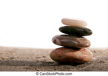 Zen stones - Balanced stones isolated