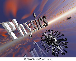 Molecular, physics. - 3D illustration, background, wallpaper...