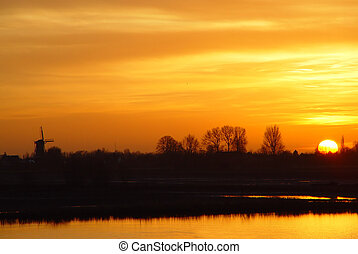 Dutch Mountains - Sunset over the Dutch mountains