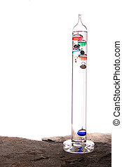 Galileo thermometer - Isolated galileo thermometer