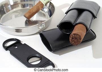 cigarro, y, accesorios