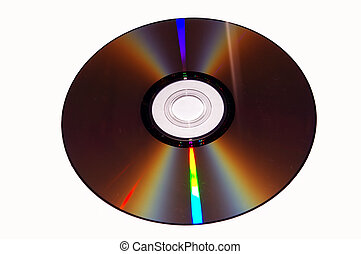 DVD on white background.