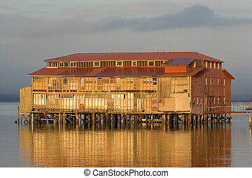 Old Cannery Building, Astoria, Oregon - Photo of an old...
