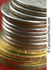 coins in close up - coins in macro