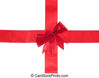 Cross red ribbon
