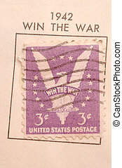 1942 postage stamp - collectors stamp 1942 usa win the war...