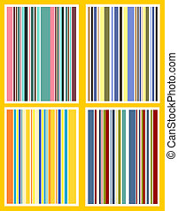 Retro stripes - Four retro stripe backgrounds