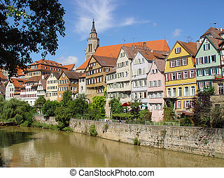 Romantic town - The old German university town of Tuebingen...