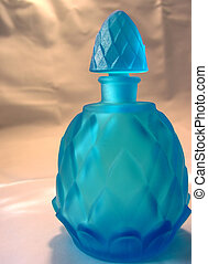 Blue Bottle - a blue glass bottle with stopper