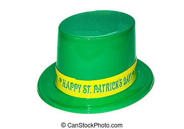 St. Patricks Hat - A happy st. patricks day hat on white