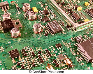 Circuit Board 1 - Macro shot of a circuit board