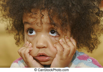 I Can Make This Face - A beautiful mixed race little girl...