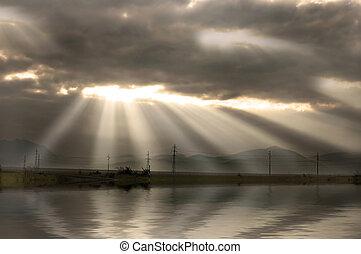 sunrise beams - sunrise landscape