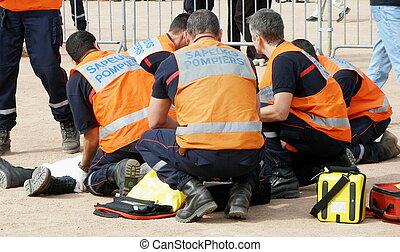 rescue - fireman work