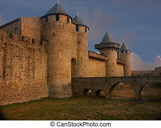 Carcasonne Castle in the south of France.