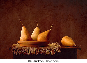 Pears - Still life with pears in warm light
