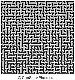 Intricate Maze - -- rectangular design