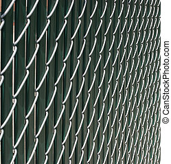 Chain Link Fence - Closeup of a chain link fence