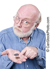All I got - Old man with coins in his hand