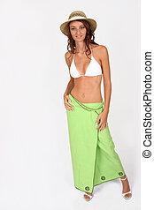 Woman standing in bikini