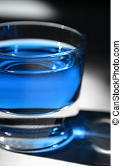 Blue Cocktail - An alcoholic blue drink.