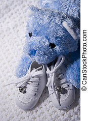 Baby Shoes and Teddy 2 - Pair of Babies shoes with Teddy...