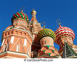 St Basil Cathedral - A view of the St Basils Cathedral,...