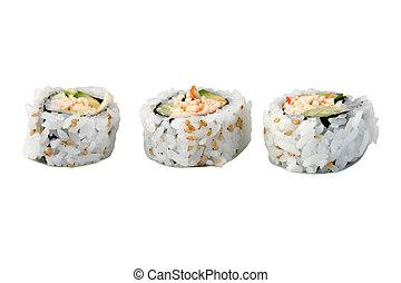 Sushi Isolated White