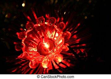 Christmas light - christmas light on