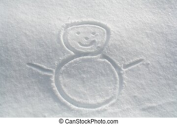 snow man - draw of a snowman
