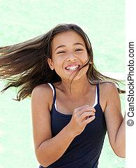 Happy girl - Girl in motion