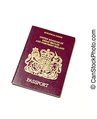 passport - close up of british passport