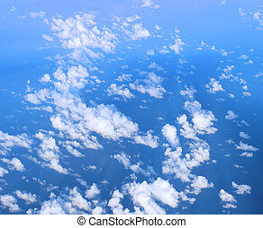 Blue Sky and clouds - White clouds against Blue sky