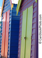 Brighton Beach. - colorful Brighton boat sheds, Melbourne,...