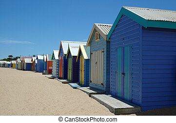 Brighton Beach - Colorful Brighton beach, Melbourne,...