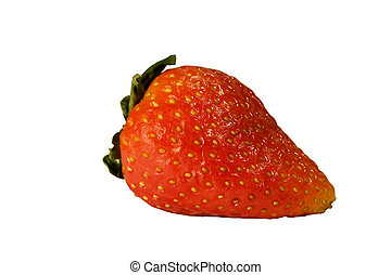 Strawberry isolated on white with clipping path