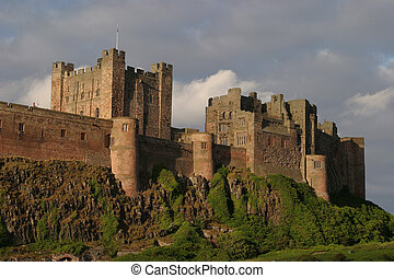 Castle Walls - Coastal Fortifications, Northumbria, North...