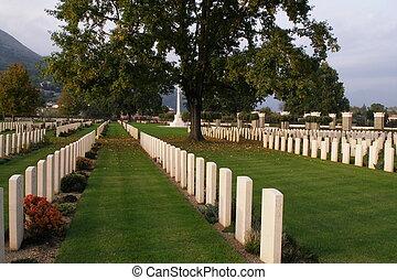 militär, kyrkogård