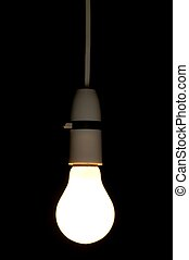light bulb - Hanging light bulb could be used to show...