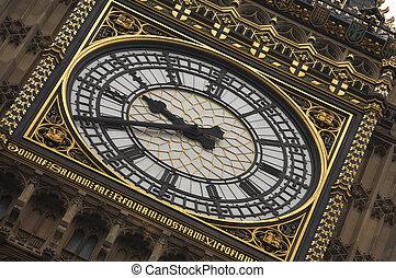 big ben clock face - Close up of big ben clock face