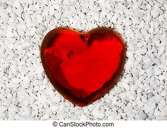 Heart - red glass heart