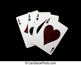 four aces black background hi rez