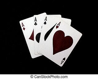 four aces  black background (hi rez)