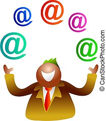 juggling email - icon people