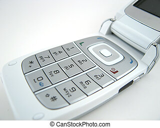Phone keypad - Close up of phone keypad with a bit of screen...
