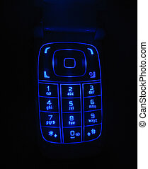 Glowing phone keypad - Glowing keypad of a Nokia cell phone
