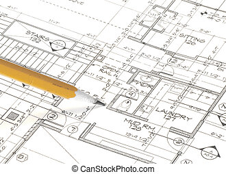 plans - close-up of house plans