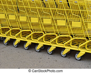 Yellow row - Row of yellow carts